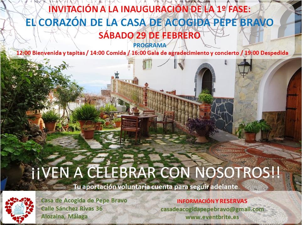 Invitación a la inauguración 1º fase