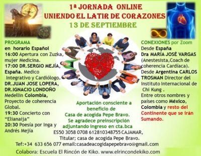Encuentro online internacional: UNIENDO EL LATIR DE CORAZONES (13 de septiembre).