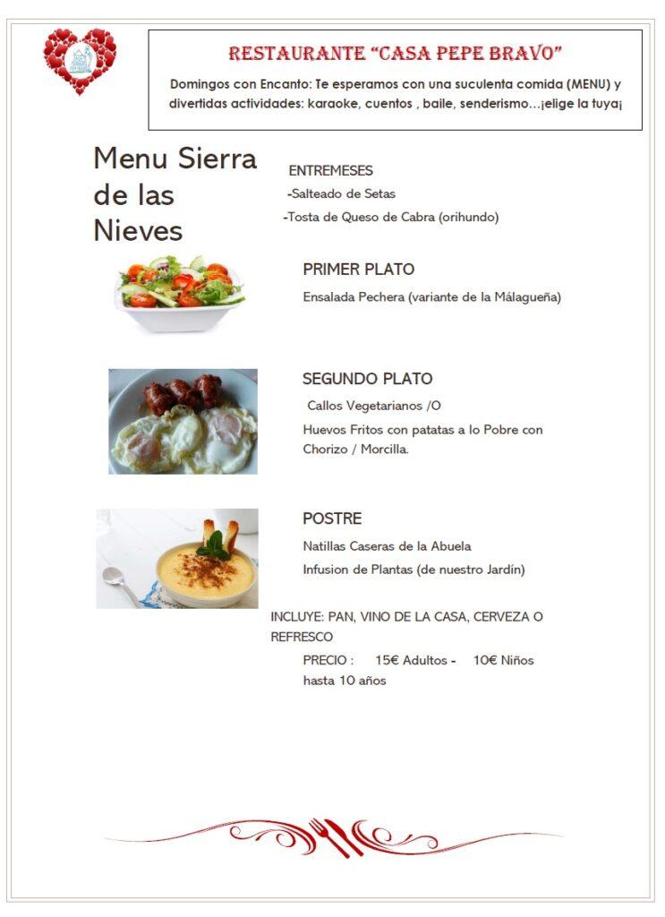 Ven a disfrutar los domingos de una comida con encanto en Alozaina